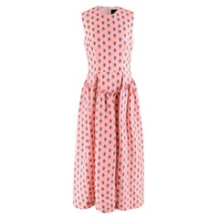 Simone Rocha Pink Floral-embroidered Jacquard Dress UK 10 S