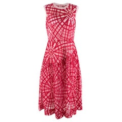 Simone Rocha Pink & Red Tinsel Embroidered Tulle Dress - Us size 8