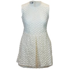 Simone Rocha White Silk Sleeveless Dress
