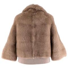 Simonetta Ravizza Beije Mink Fur Jacket  40