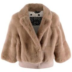 Simonetta Ravizza Beije Mink Fur Jacket  - Size US 4