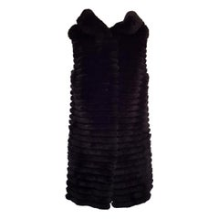 Simonetta Ravizza Black Lapin Fur Jacket M