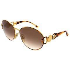 Simonetta Ravizza by Annabella oversized vintage sunglasses round tortoise
