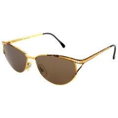 Simonetta Ravizza vintage golden cat eye sunglasses