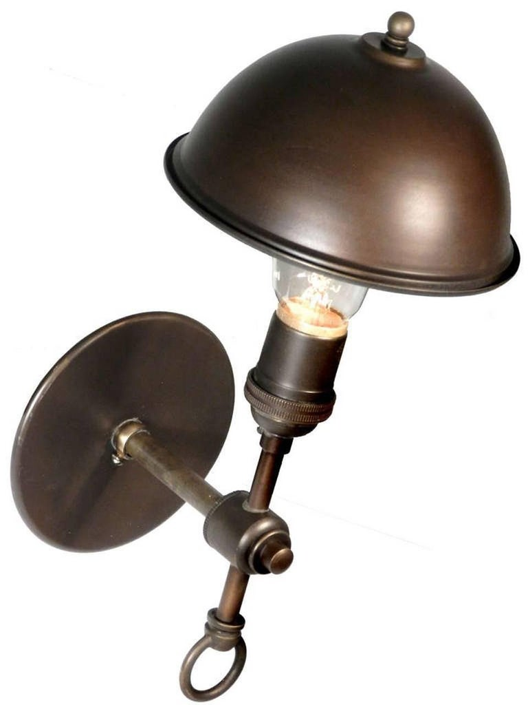Industrial Simple and Elegant Hooded Sconce For Sale