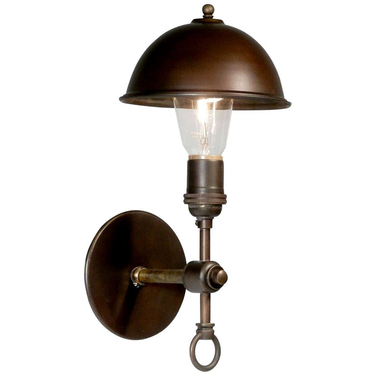 Simple and Elegant Hooded Sconce For Sale