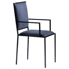 Simple Chair with Armrests in Royal Blue