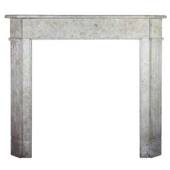 Simple French Petite Antique Fireplace Surround in Comblanchien Marble Stone