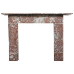 Simple Late 19th Century Victorian Fireplace Surround in Rouge Royal Marble