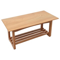Simple Midcentury Coffee Table with Magazine Rack