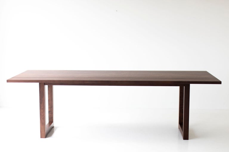Simple Modern Dining Table, Walnut For Sale 5
