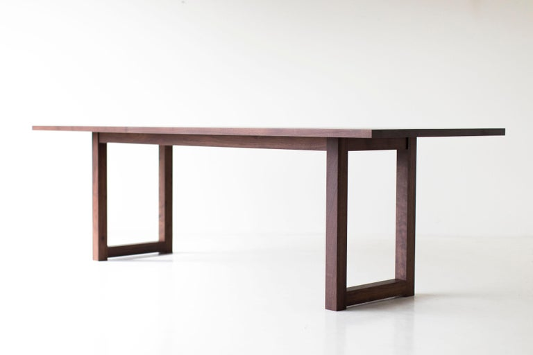 Simple Modern Dining Table, Walnut For Sale 6