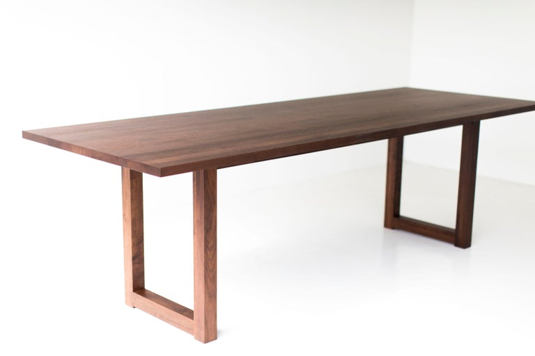 North American Simple Modern Dining Table, Walnut For Sale