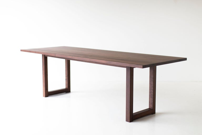 Simple Modern Dining Table, Walnut For Sale 1