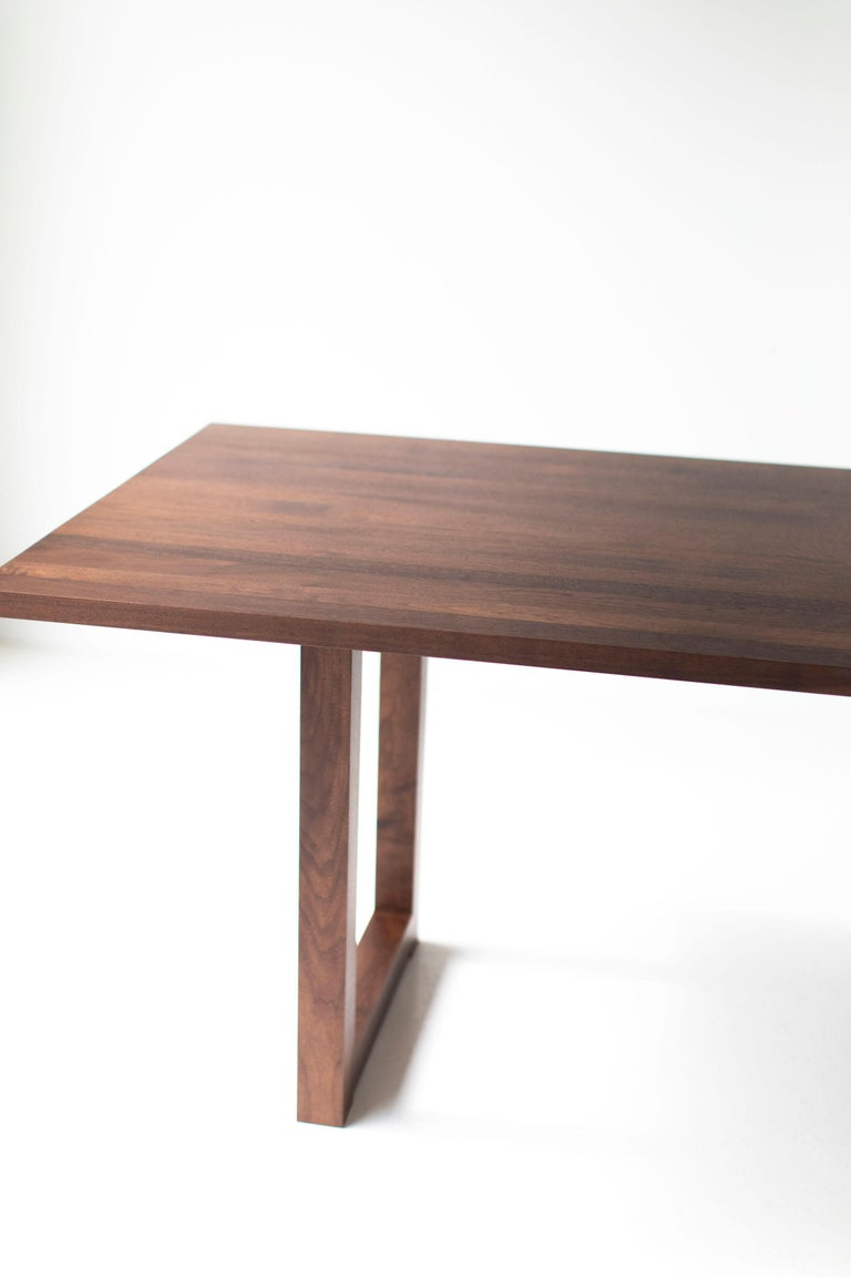 Simple Modern Dining Table, Walnut For Sale 2