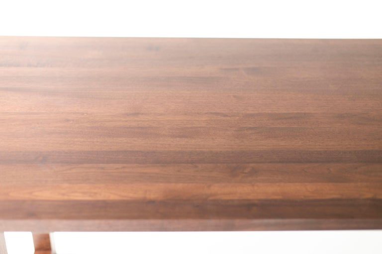Simple Modern Dining Table, Walnut For Sale 3