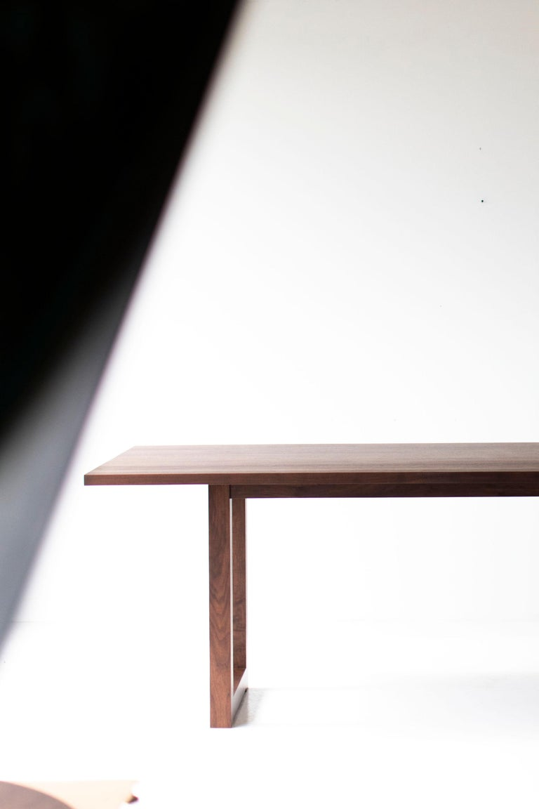 Simple Modern Dining Table, Walnut For Sale 4