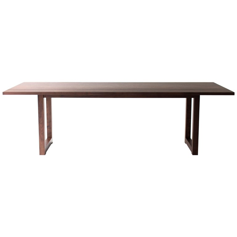 Simple Modern Dining Table, Walnut For Sale