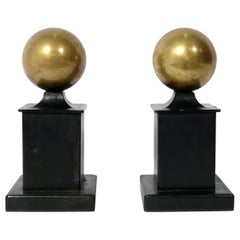 Simple Neoclassical Andirons