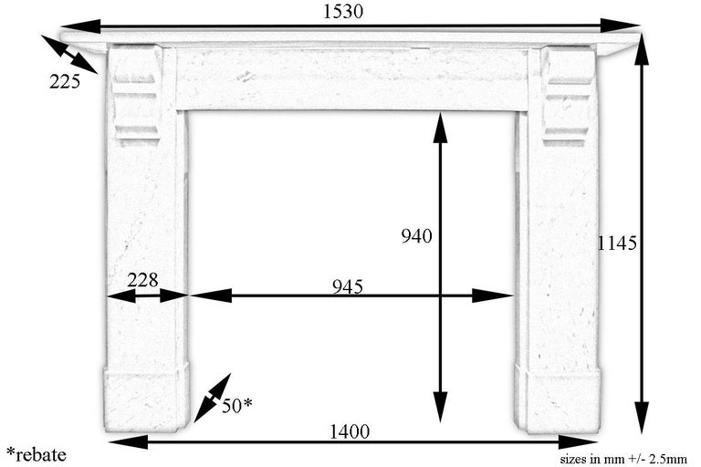 English Simple Reclaimed Victorian Carrara Marble Fireplace Surround For Sale