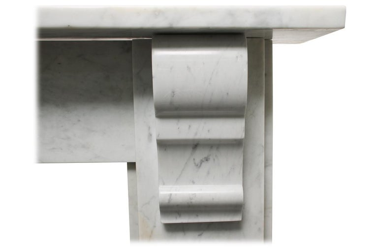 Simple Reclaimed Victorian Carrara Marble Fireplace Surround For Sale 1