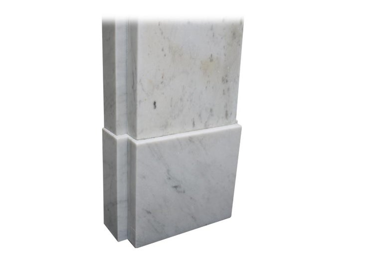 Simple Reclaimed Victorian Carrara Marble Fireplace Surround For Sale 3