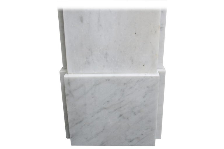 Simple Reclaimed Victorian Carrara Marble Fireplace Surround For Sale 4