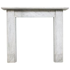 Simple Victorian Carrara Marble Fireplace Surround