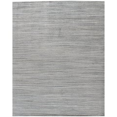 Simplicity Beige Blue Contemporary Handwoven Rug, 9'1 x 11'11
