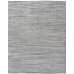 Simplicity Beige Blue Contemporary Handwoven Rug, 10' x 14'