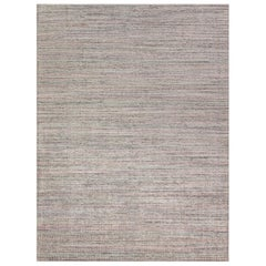 Simplicity Pink Turquoise Contemporary Handwoven Rug  10' X 14'