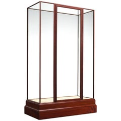Simplistic Vitrine in Glass and Wood