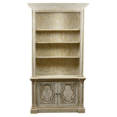 Simply Carved 4 Shelf Oak Bookcase, 20th Century