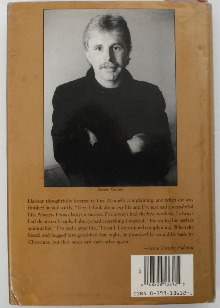 Simply Halston, The Untold Story by Steven Gaines, Signed First Edition For Sale 8