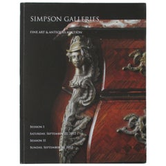 Simpson Galleries Art and Antique Auction House Catalog, 2012