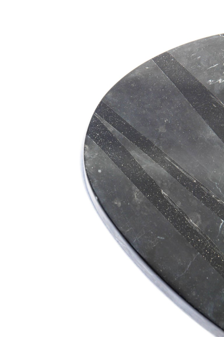 Board or Serving Plate Stone Resin Contemporary Style Black/White  For Sale 8
