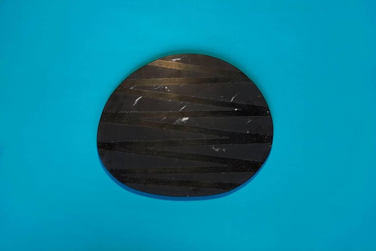 Board or Serving Plate Stone Resin Contemporary Style Black/White  For Sale 9