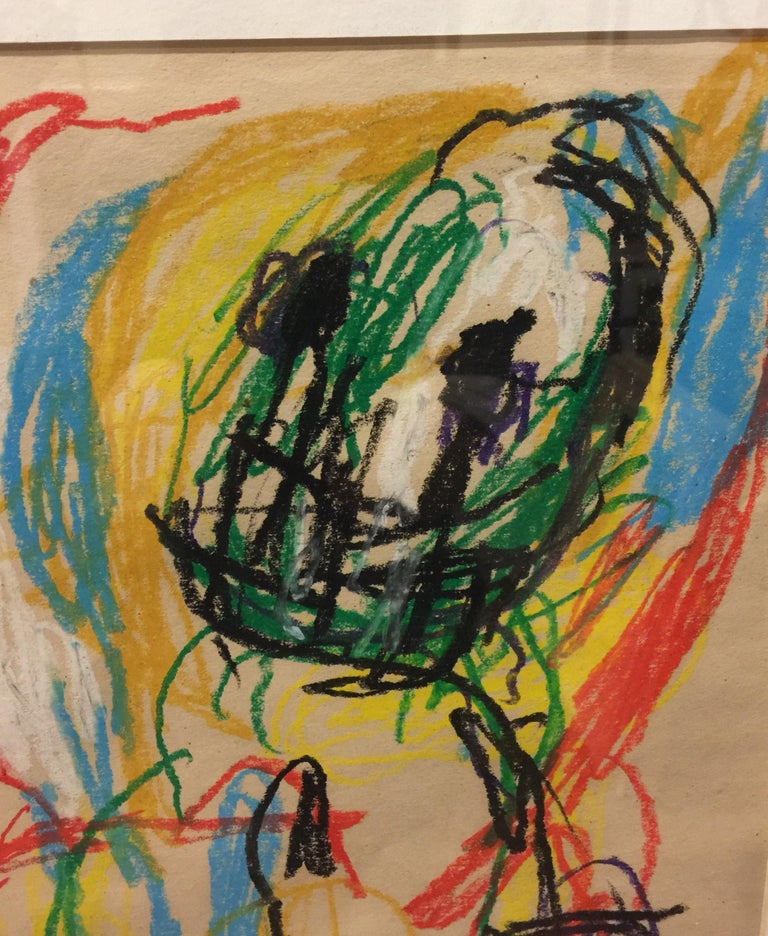 Sin Titulo (Untitled), crayon on paper by Asger Jorn 2