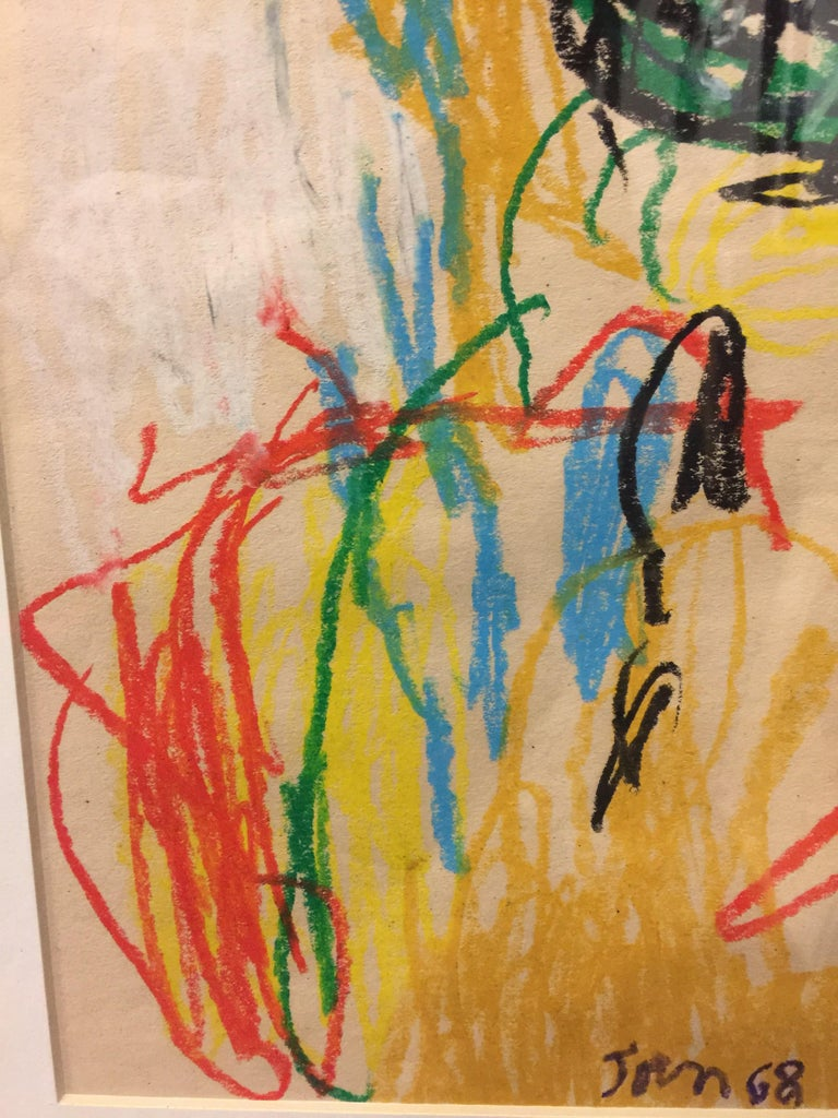 Sin Titulo (Untitled), crayon on paper by Asger Jorn 4