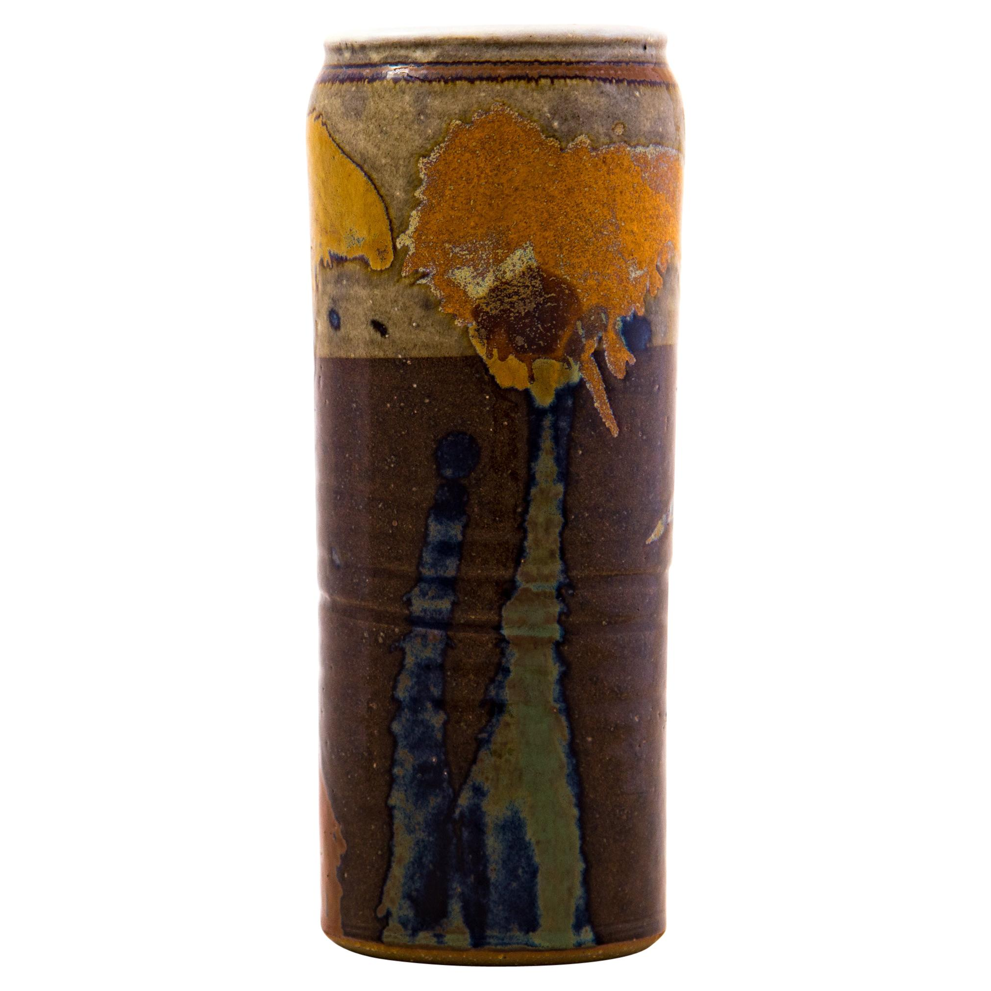 Sinclair Ashley Studio Pottery Stoneware Vase, Signed