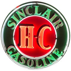 Sinclair HC Gasoline Neon Advertising Sign, 1958
