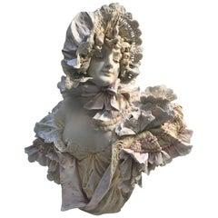 Singed Austrian Amphora Bust Stellmacher Teplitz