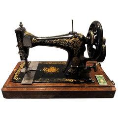 Singer Sewing Machine in Original Case and Key, 1892