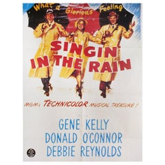 """""""Singin in the Rain"""" R2000s French Film Poster"""