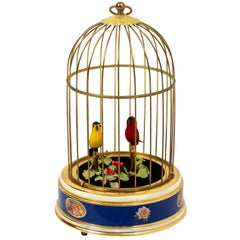 Singing Bird Cadge Music Box by Reuge