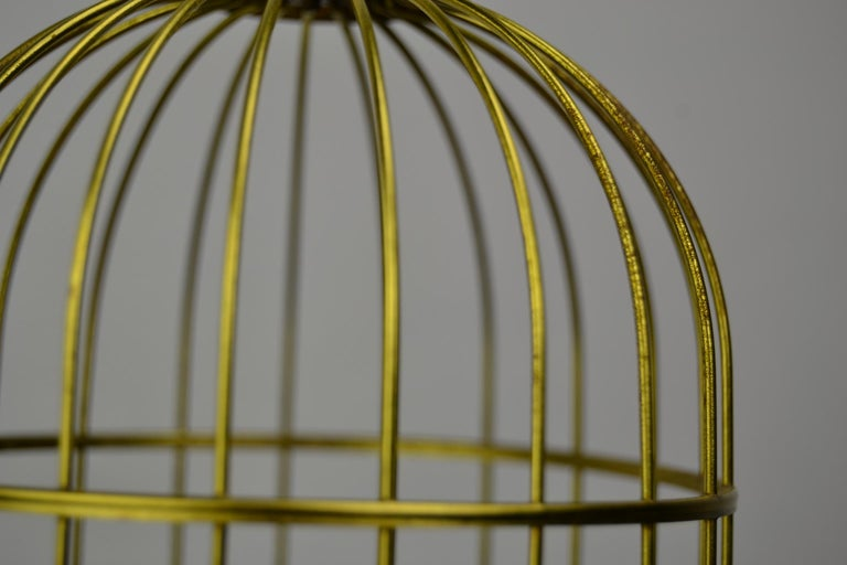 Singing Bird Cage Automaton by Hasu Germany, Mid-20th Century For Sale 10
