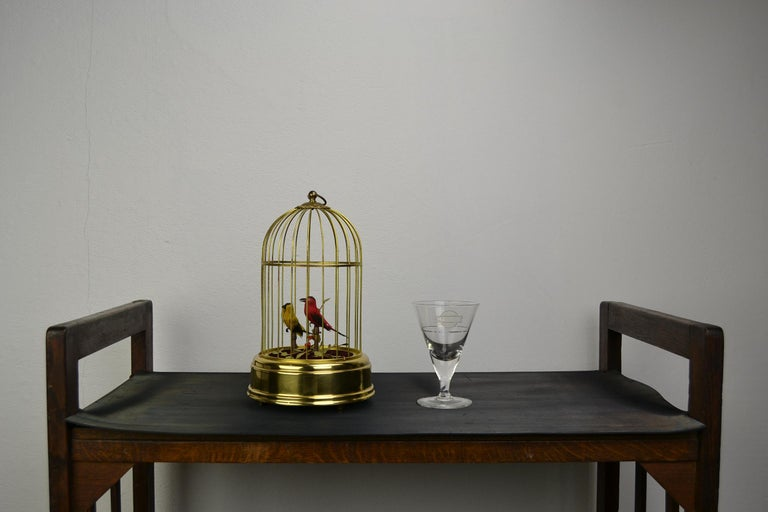 Singing Bird Cage Automaton by Hasu Germany, Mid-20th Century For Sale 16