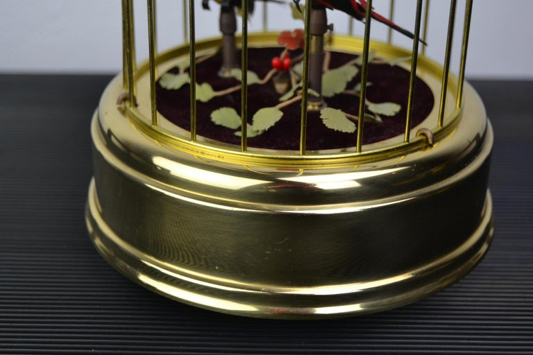 Singing Bird Cage Automaton by Hasu Germany, Mid-20th Century In Good Condition For Sale In Antwerp, BE