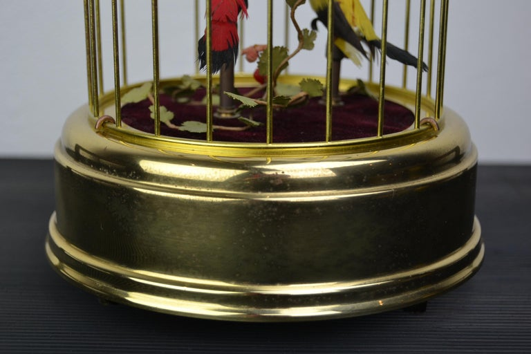 Singing Bird Cage Automaton by Hasu Germany, Mid-20th Century For Sale 3