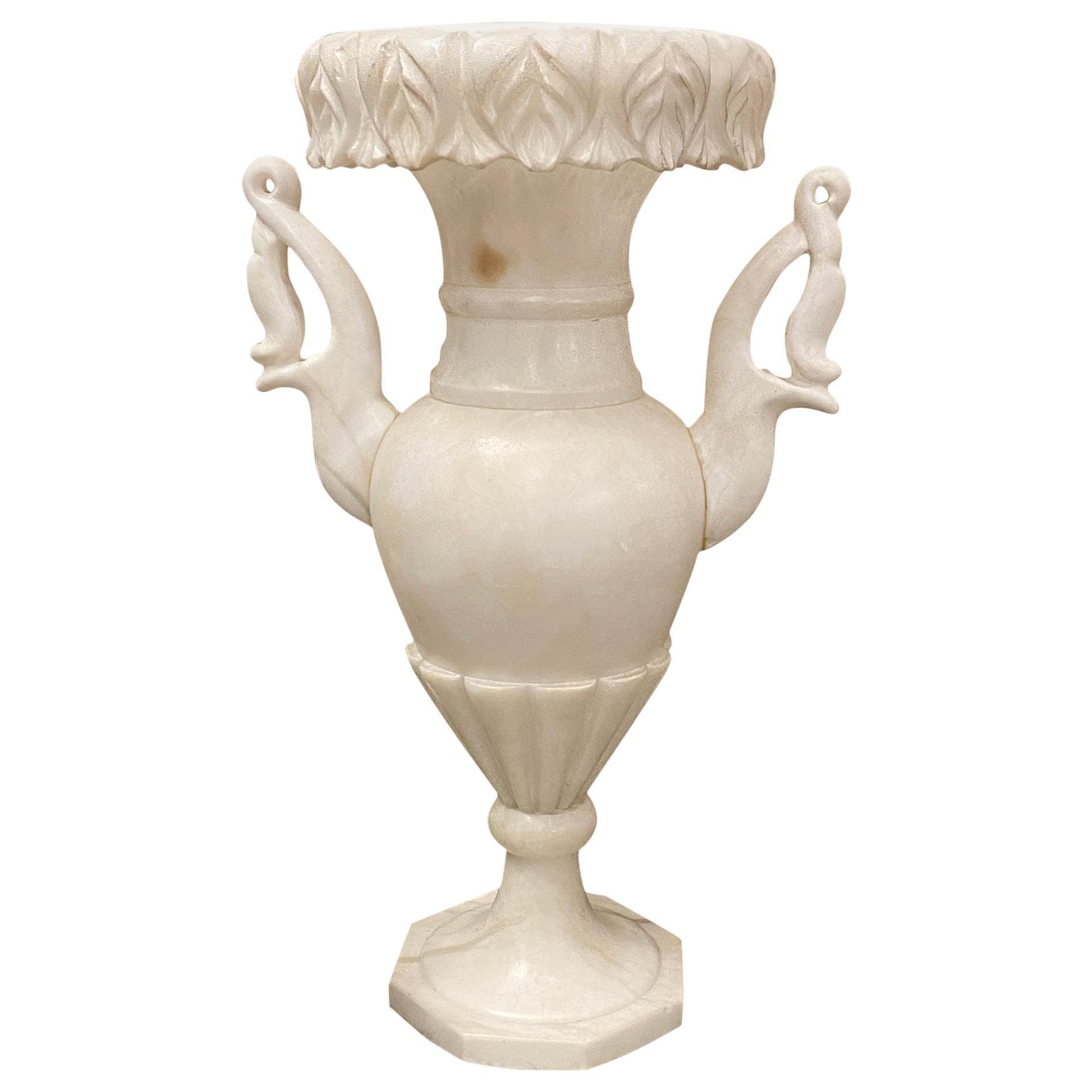Single Alabaster Urn Lamp